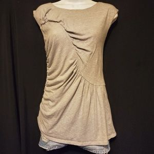 Anthropologie Deletta Ruched Tank Top M